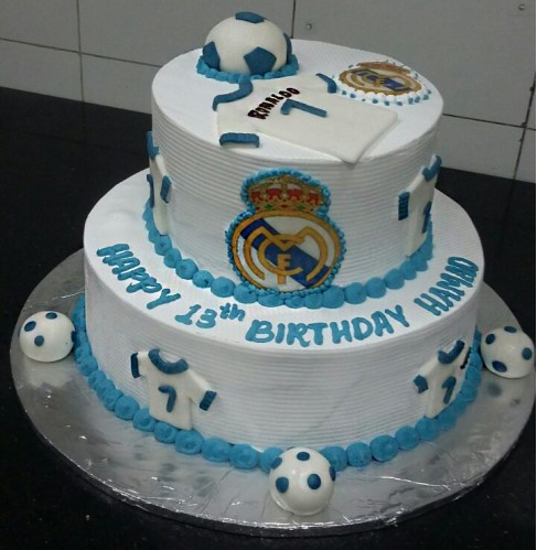 Swell Real Madrid Cake Order Online With Free Delivery Funny Birthday Cards Online Elaedamsfinfo
